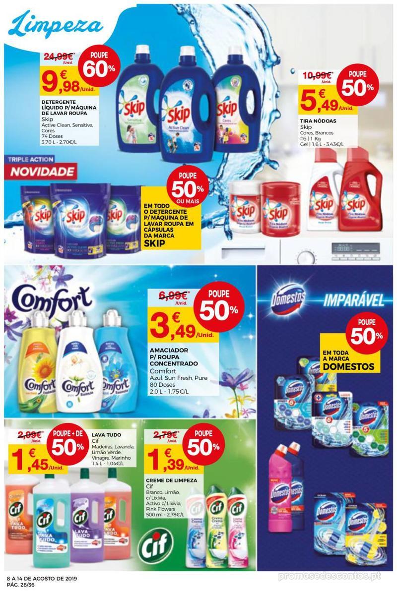 Folheto Intermarché Daqui leva a pausa que precisa e que sabe ainda melhor - Super - 8 de Agosto a 14 de Agosto - página 28