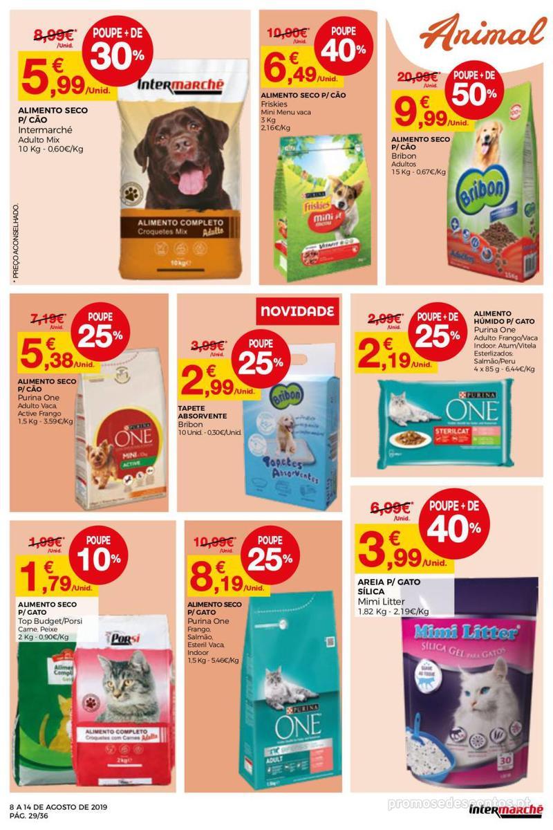 Folheto Intermarché Daqui leva a pausa que precisa e que sabe ainda melhor - Super - 8 de Agosto a 14 de Agosto - página 29
