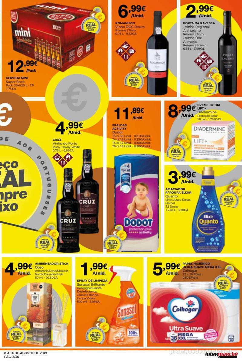 Folheto Intermarché Daqui leva a pausa que precisa e que sabe ainda melhor - Super - 8 de Agosto a 14 de Agosto - página 3