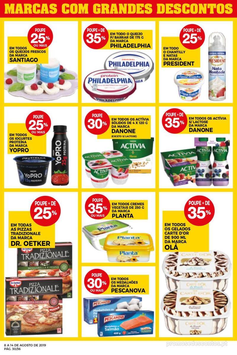 Folheto Intermarché Daqui leva a pausa que precisa e que sabe ainda melhor - Super - 8 de Agosto a 14 de Agosto - página 30