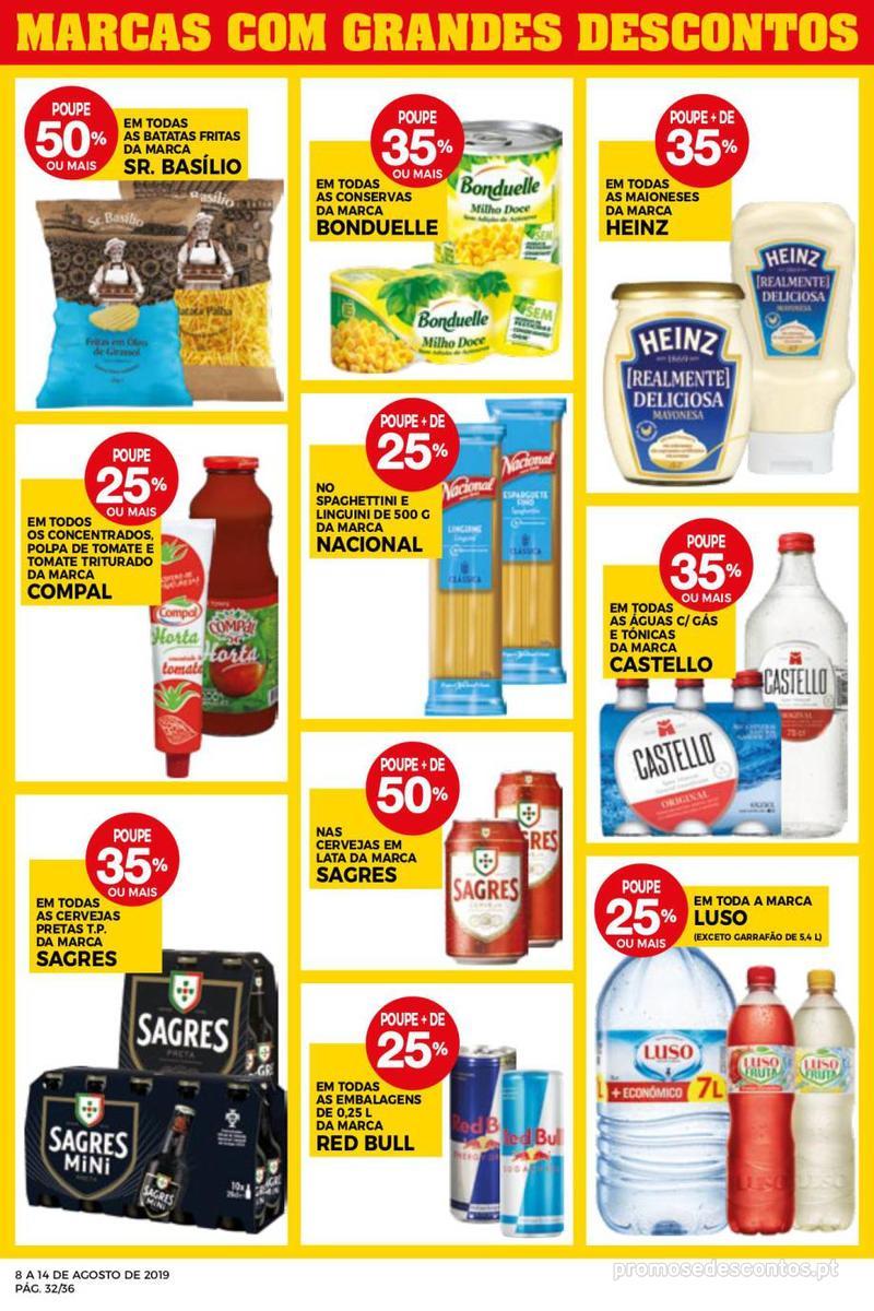 Folheto Intermarché Daqui leva a pausa que precisa e que sabe ainda melhor - Super - 8 de Agosto a 14 de Agosto - página 32