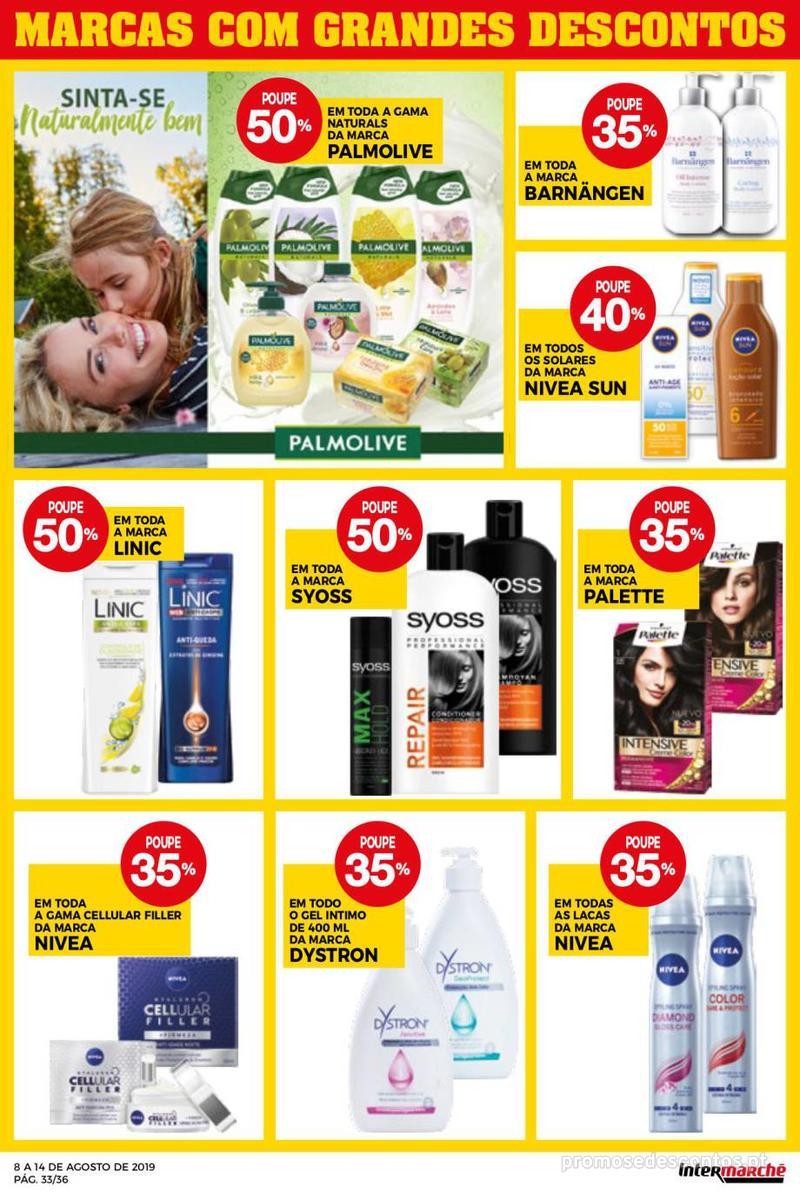 Folheto Intermarché Daqui leva a pausa que precisa e que sabe ainda melhor - Super - 8 de Agosto a 14 de Agosto - página 33