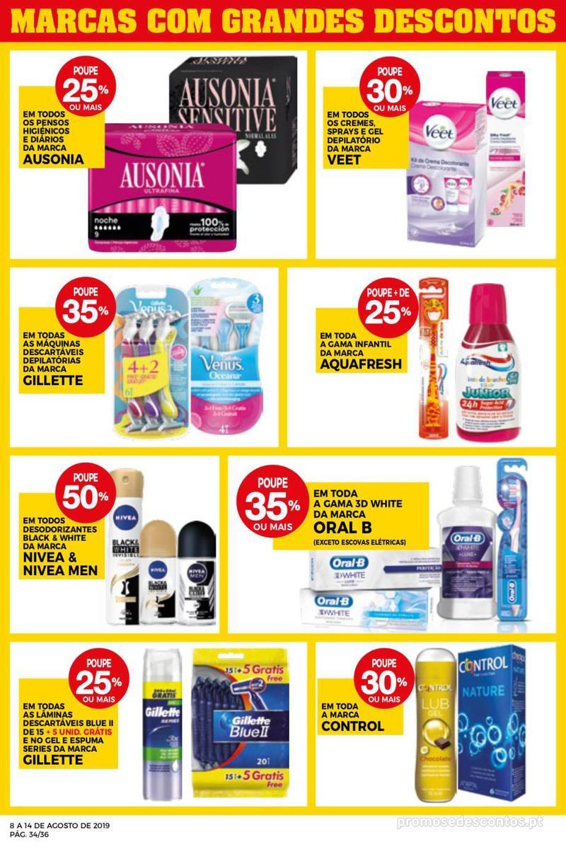 Folheto Intermarché Daqui leva a pausa que precisa e que sabe ainda melhor - Super - 8 de Agosto a 14 de Agosto - página 34