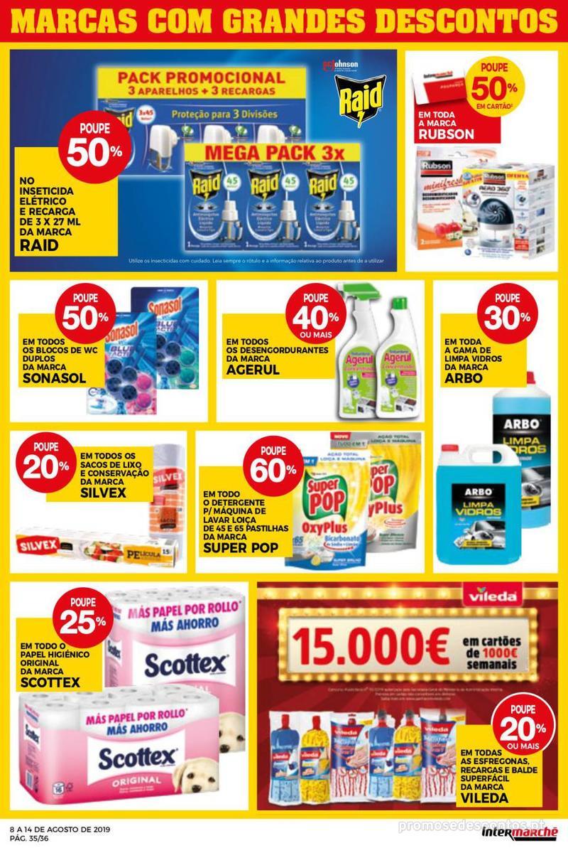 Folheto Intermarché Daqui leva a pausa que precisa e que sabe ainda melhor - Super - 8 de Agosto a 14 de Agosto - página 35