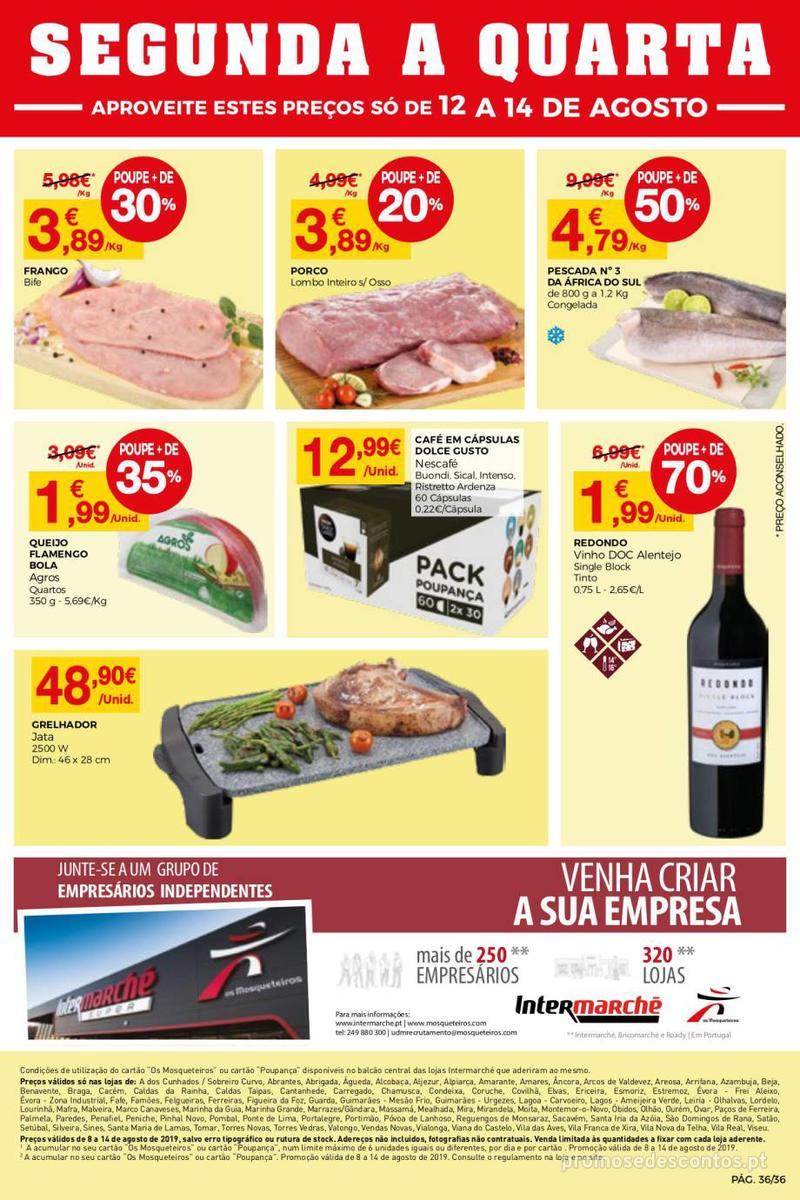 Folheto Intermarché Daqui leva a pausa que precisa e que sabe ainda melhor - Super - 8 de Agosto a 14 de Agosto - página 36