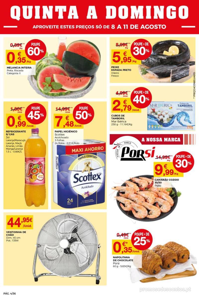 Folheto Intermarché Daqui leva a pausa que precisa e que sabe ainda melhor - Super - 8 de Agosto a 14 de Agosto - página 4