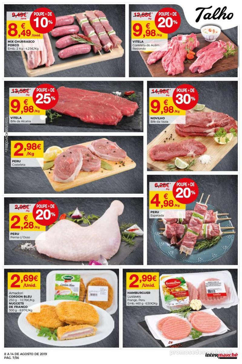 Folheto Intermarché Daqui leva a pausa que precisa e que sabe ainda melhor - Super - 8 de Agosto a 14 de Agosto - página 7