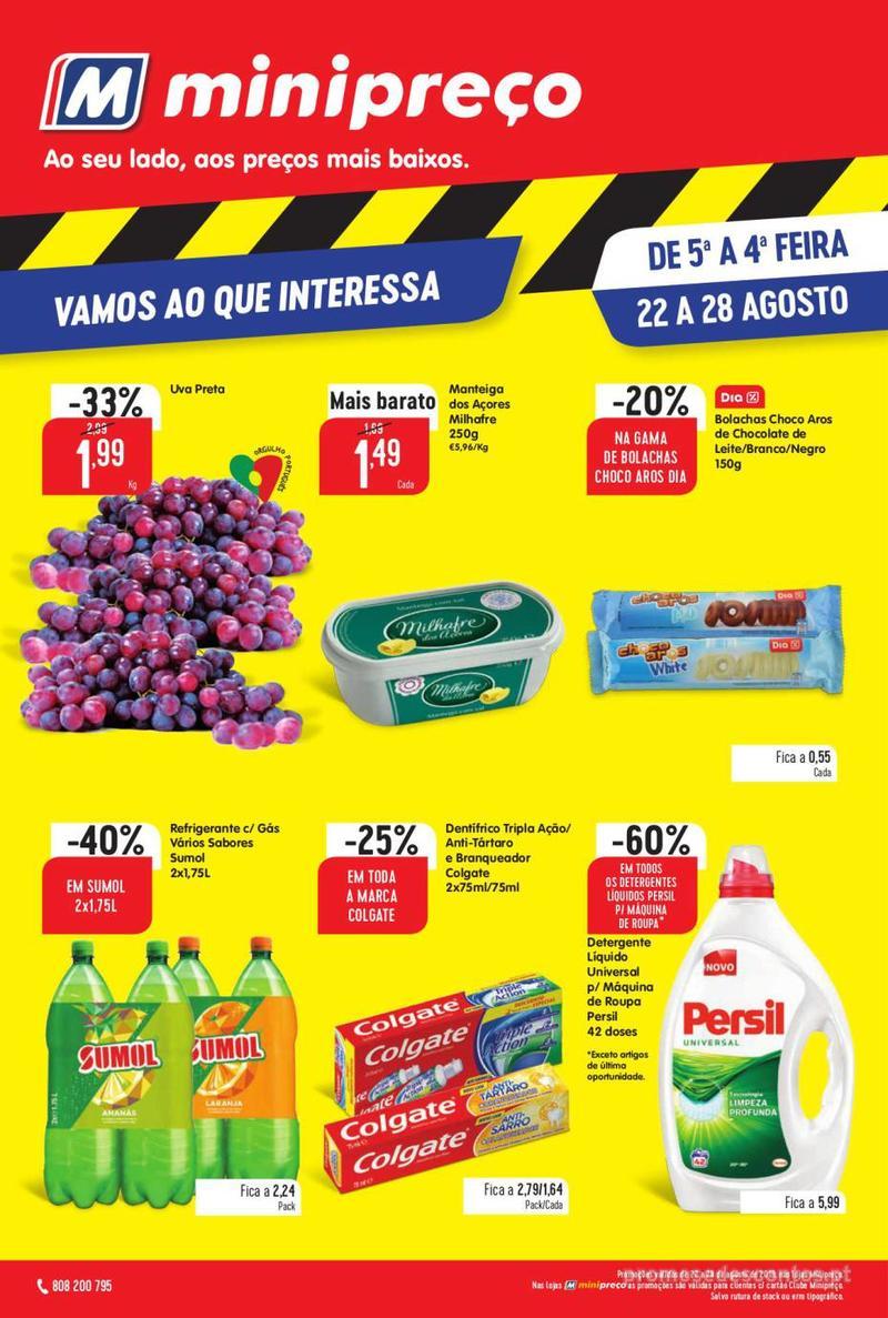 Folheto Intermarché Vamos ao que interessa - 22 de Agosto a 28 de Agosto - página 1