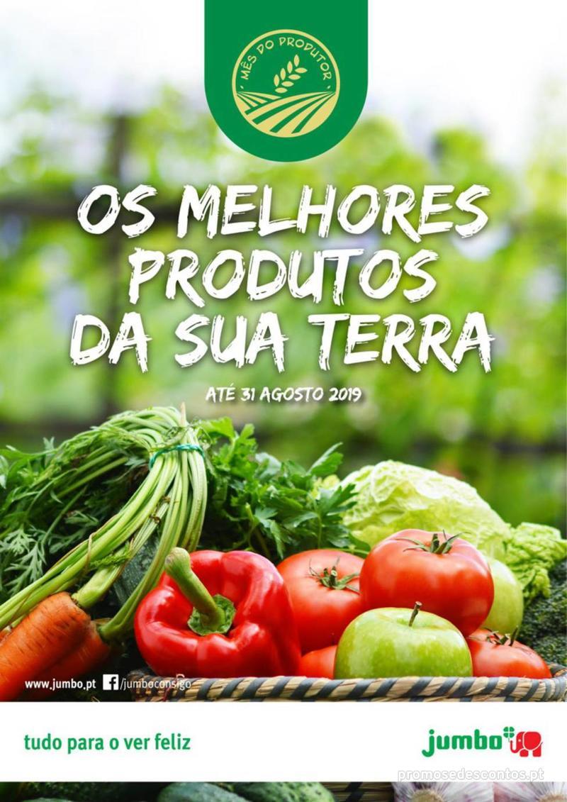 Folheto Jumbo Os melhores produtos da sua terra - 8 de Agosto a 31 de Agosto pág. 1