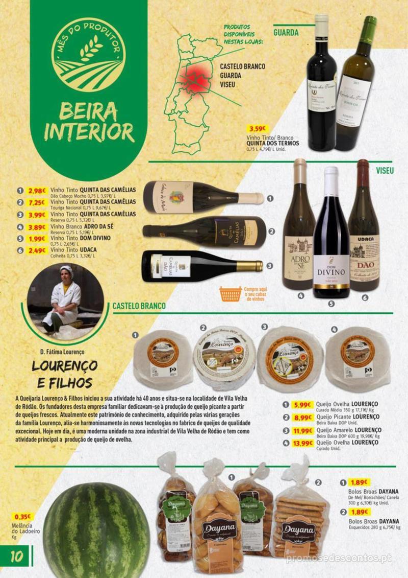 Folheto Jumbo Os melhores produtos da sua terra - 8 de Agosto a 31 de Agosto pág. 10