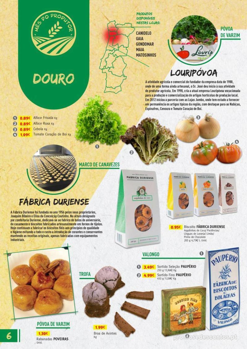 Folheto Jumbo Os melhores produtos da sua terra - 8 de Agosto a 31 de Agosto pág. 6