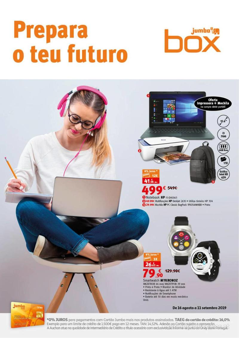 Folheto Jumbo Box - Prepara o teu futuro - 16 de Agosto a 11 de Setembro pág. 1